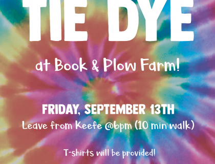 tie dye event poster