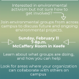Campus-Wide Environmental Group Collaboration