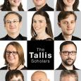 "Faces of 11 Tallis Scholar musicians, arranged in a rectangle around the words ""The Tallis Scholars"""