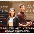 Thesis poster showing Ruescher and Sandel standing in Buckley Recital Hall