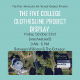 The Five College Clothesline Project Display