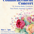 Event poster featuring a watercolor painting of roses and other flowers