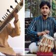 Srinivas Reddy and Nitin Mitta seated and playing their respective instruments