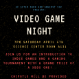 Poster for Video Game Night