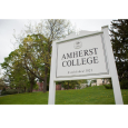 Image of the sign at the main entrance to Amherst College