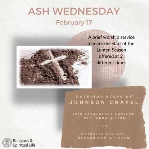 Ash Wednesday flier