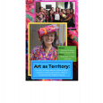 Event poster featuring photos of Angelina Aspuac and a crowd of women and babies, all wearing brightly colored traditional clothing and blankets