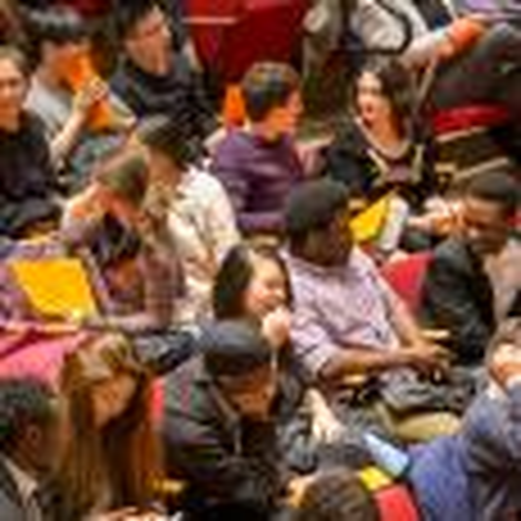 Audience in seats of Buckley Recital Hall