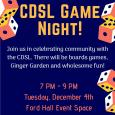 CDSL Game Night