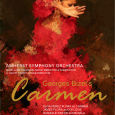 Event poster showing a stylized image of a woman dancing in a red dress, holding her arm up in front of her face