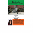 Event poster showing a photo of a violent conflict on a street and a headshot of Angana P. Chatterji