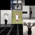 """""""Continuous Replay"""" screenshot: five images of five dancers, each holding their hands to the sides of their head and their elbows out to the sides"""
