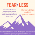 Fear Less, anxious thoughts workshop starting April 8