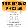 Ask town elders burning life questions! This Friday. All are welcome.