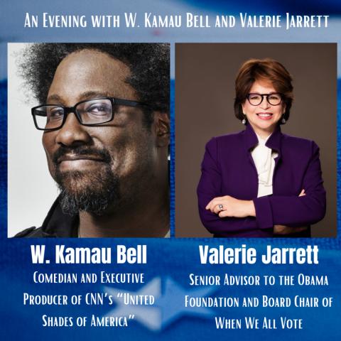 Kamau Bell and Valerie Jarrett