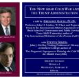 Event poster featuring closeup photos of Grause and Amherst College visiting professor Steven Simon