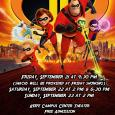 Poster showing Incredibles 2 movie poster promoting campus showing