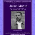 Event poster featuring a black-and-white photo of Jason Moran against a purple background