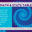 Math & Stats Table, Mondays at noon in Terrace Room A
