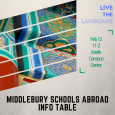 Poster of Middlebury Schools Abroad Information Table