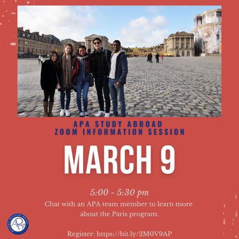 APA Paris- Info Session poster