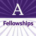 """Purple-and-white square logo with the letter A in the top half and the word """"Fellowships"""" in the bottom half"""