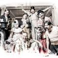 Image of members of Mnozil Brass dressed as old-fashioned circus performers