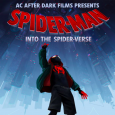 Poster showing Spider-Verse movie poster promoting campus showing