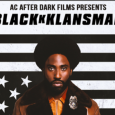 Poster showing BlacKkKlansman movie poster promoting campus showing