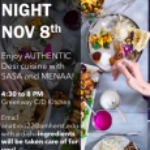 SASA + MENAA Cooking Night on Friday, November 8th!