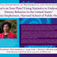 "Statistics Colloquium: ""What's on your Plate?"" - Briana Stephenson; Dec. 3, 4:30 p.m., SMUD 206"