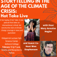Event poster featuring photos of podcast host Mary Annaise Heglar and guest co-host Wen Stephenson