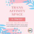 Poster of trans affinity space. See description for information.