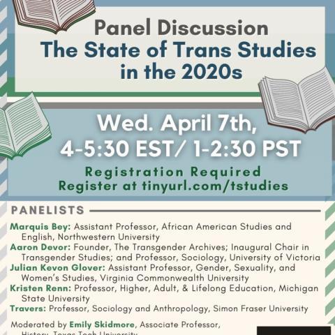 Trans Studies event flyer