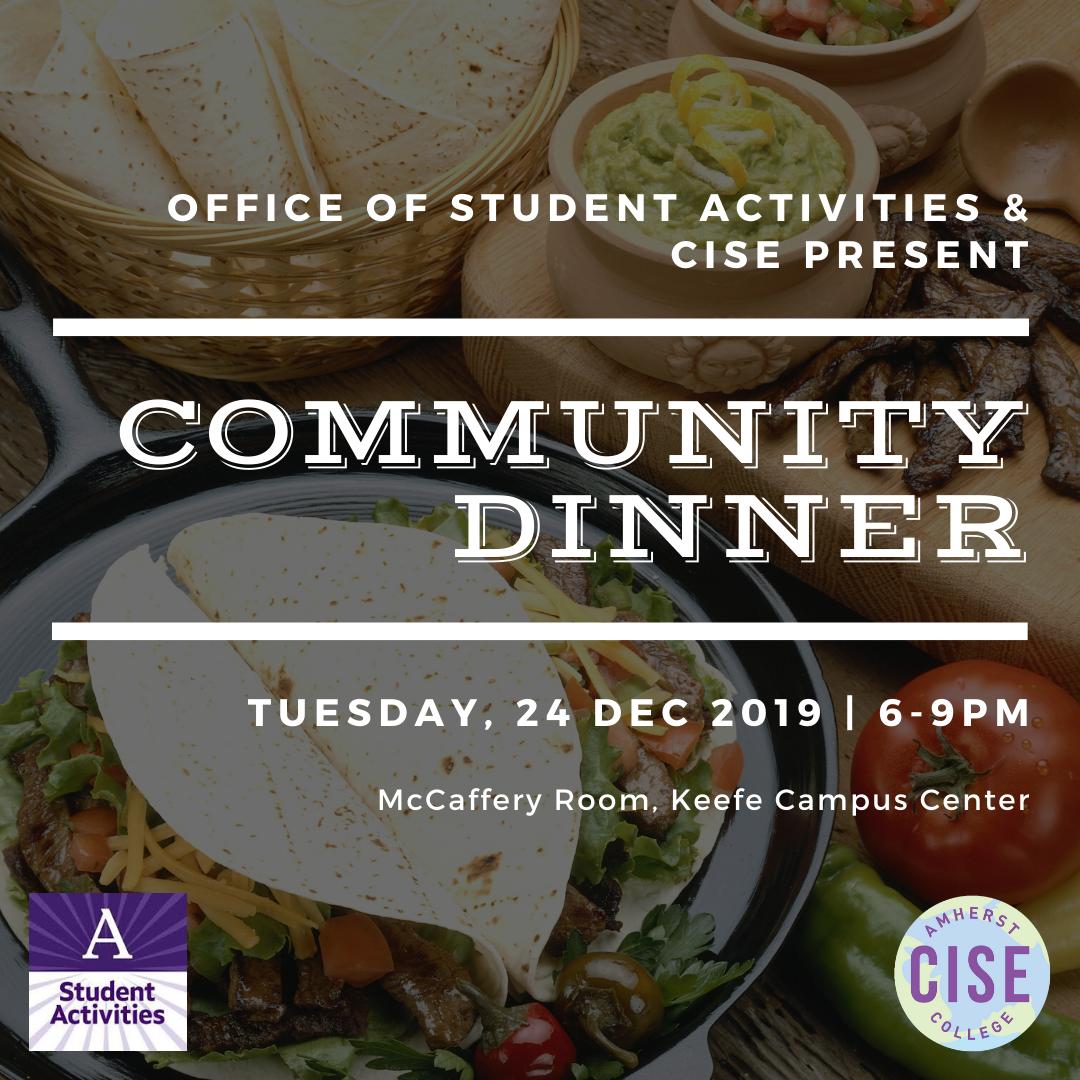 Community Dinner Graphic