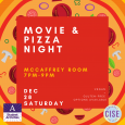 Movie and Pizza Night Graphic