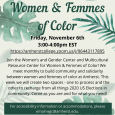 Women & Femmes of Color poster