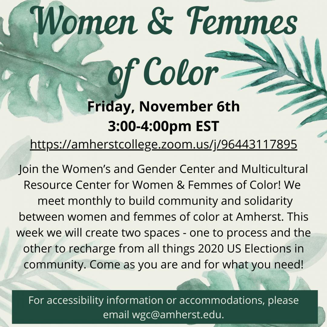 Women & Femmes of Color poster