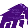 """Mammoth logo with Amherst Dreaming Club meeting details"""