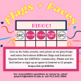 Colorful poster with event information