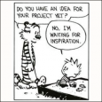 Calvin & Hobbes - waiting for inspiration