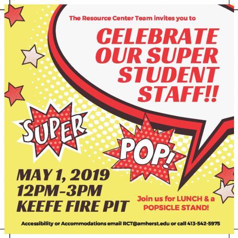 Celebrate our super student staff!