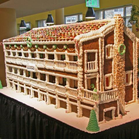 Gingerbread Science Center mock-up
