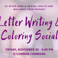 Letter Writing & Coloring Social
