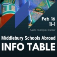 Middlebury Schools Abroad Info Table
