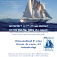 Flyer for SEA Study Abroad information session