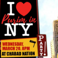 NYC Themed Purim Wednesday, March 20