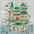 """""""The Writers' Retreat"""" comic illustration of imaginary writing place, by Grant Snider, by permission."""
