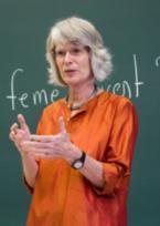 A photo of Martha Saxton in the classroom