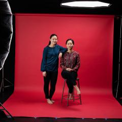 Debbie Wen '19 and Faith Wen '19 pose for the I Belong campaign